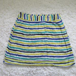 Loft ALOHA Blue Green  Stripe Skirt Women's 2